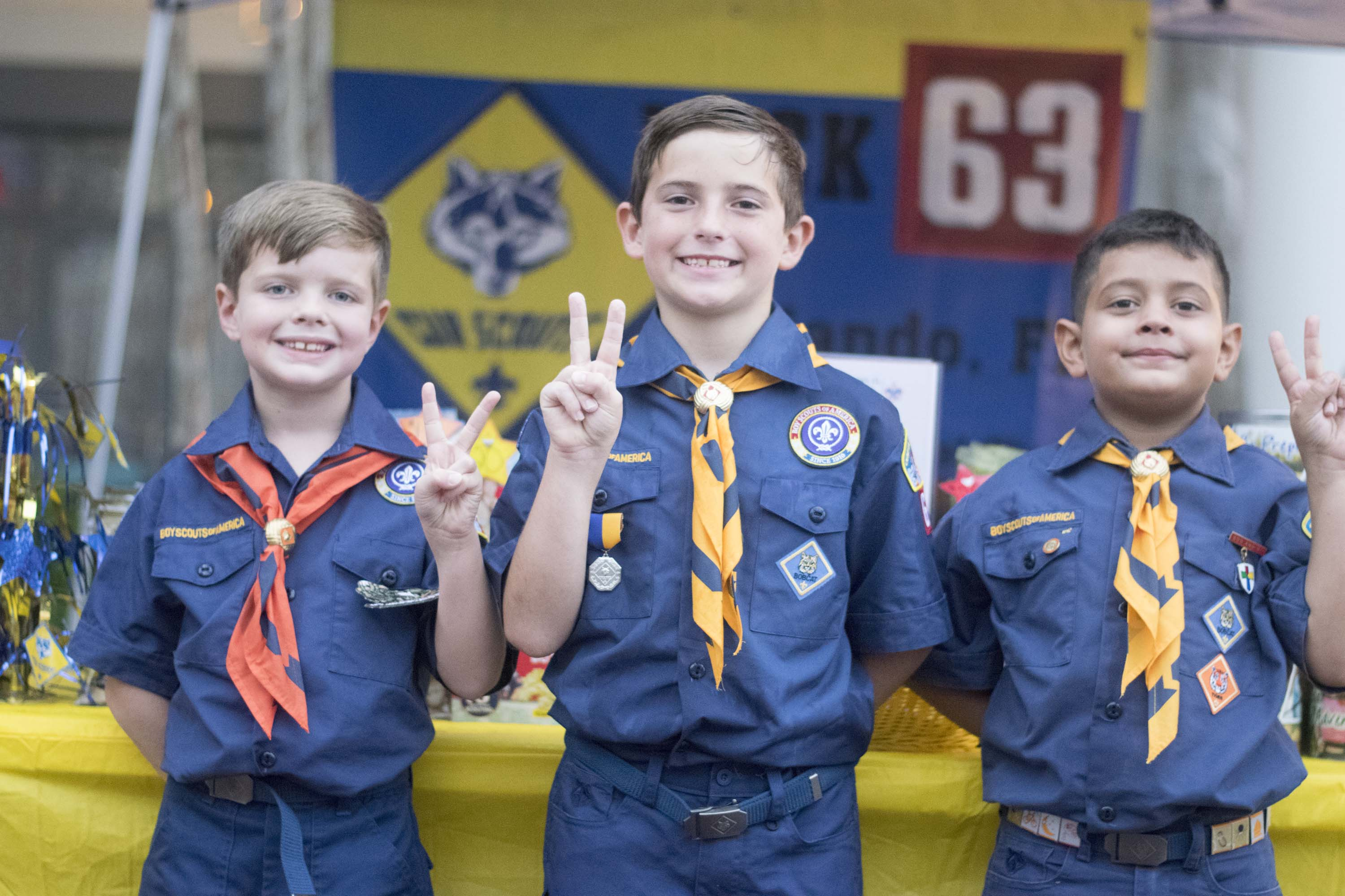 Boy Scouts at the event