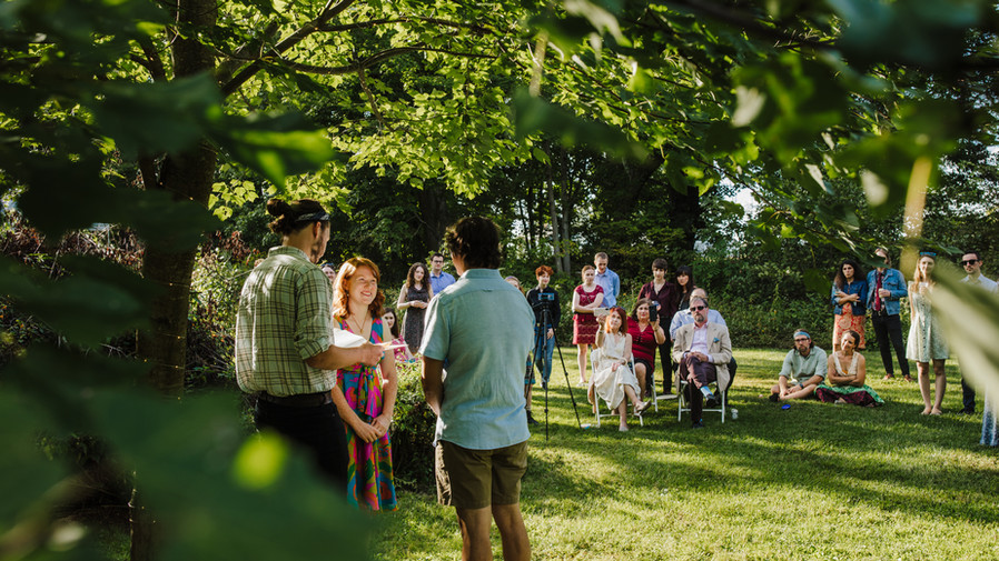 Get married outside, you won't regret it!