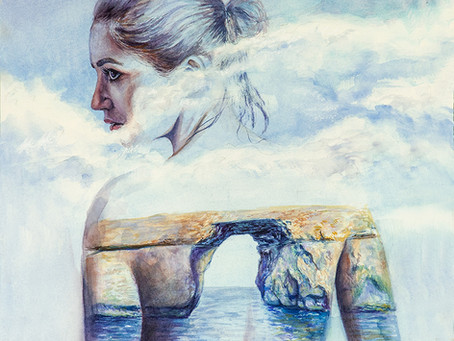 Azure Window | Watercolor Process | Cinematic painting process
