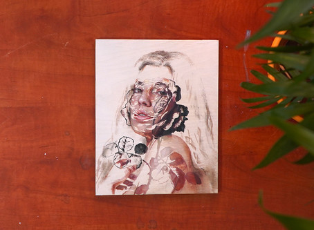 Warda | Oil Painting process using tape