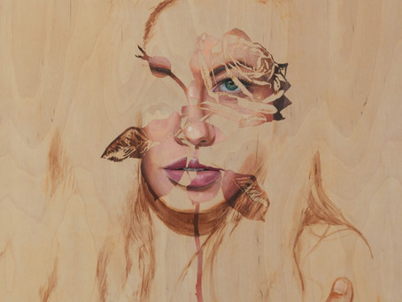 Perfectly Imperfect -OIL PAINTING PROCESS USING TAPE-