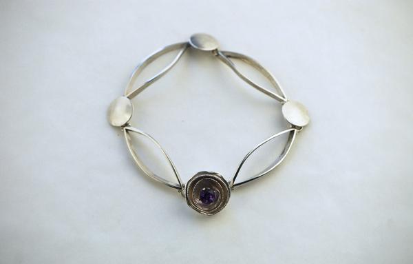 Tanya Bracelet Purple Amethyst