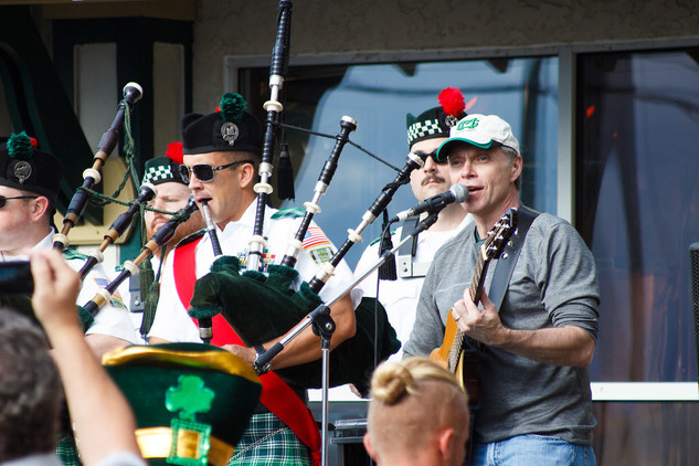 Rich and the Bagpipe Band