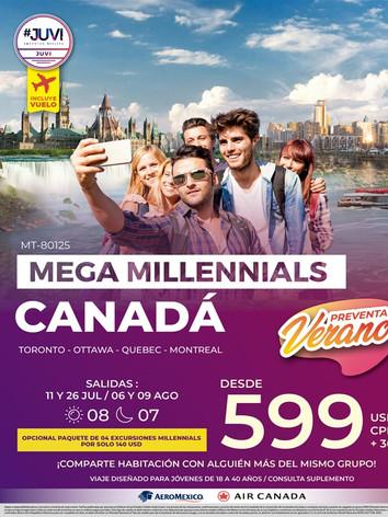 MEGA MILLENNIALS EN CANADÁ