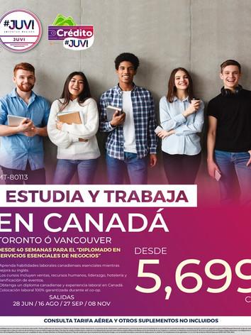 ESTUDIA Y TRABAJA EN CANADÁ
