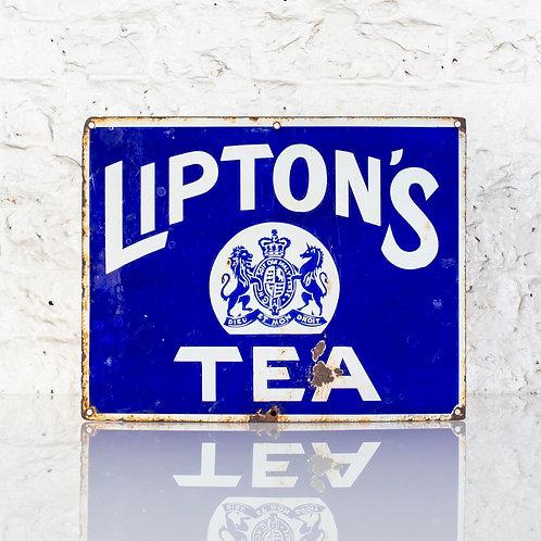 CHARMING, LIPTON'S TEA ENAMEL SIGN