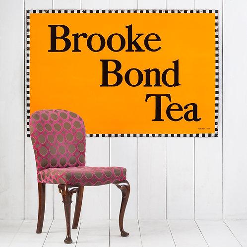 STUNNING, LARGE BROOKE BOND TEA ENAMEL SIGN