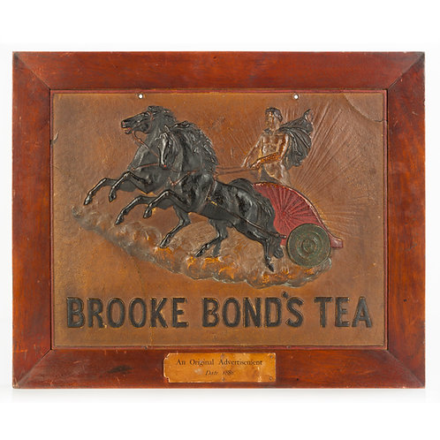 FRAMED VICTORIAN BROOKE BOND'S TEA ADVERTISING CARD W. PROVENANCE