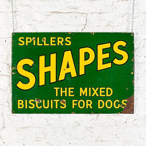 SPILLERS SHAPES - DOG BISCUITS - ENAMEL SIGN