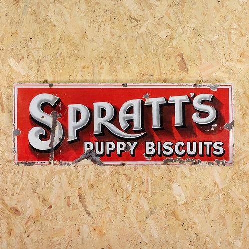 SPRATT'S PUPPY BISCUITS - CHARMING ENAMEL SIGN