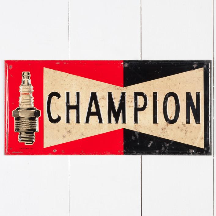 CHAMPION SPARK PLUGS TIN SIGN