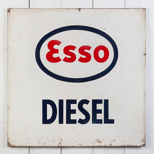 ESSO DIESEL METAL ADVERTISING SIGN