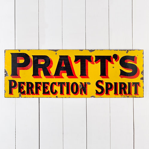 PRATT'S PERFECTION SPIRIT - EARLY ENAMEL SIGN