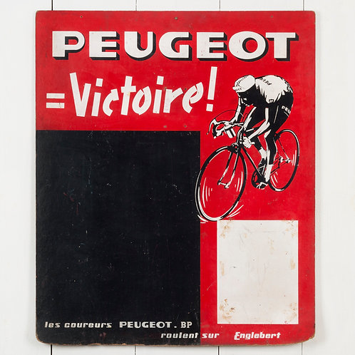 PEUGEOT VICTORY! VINTAGE FRENCH NOTICEBOARD