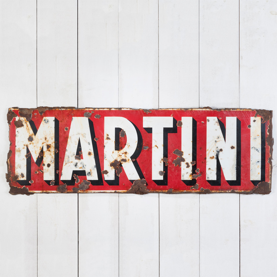 VERY EARLY MARTINI ENAMEL SIGN