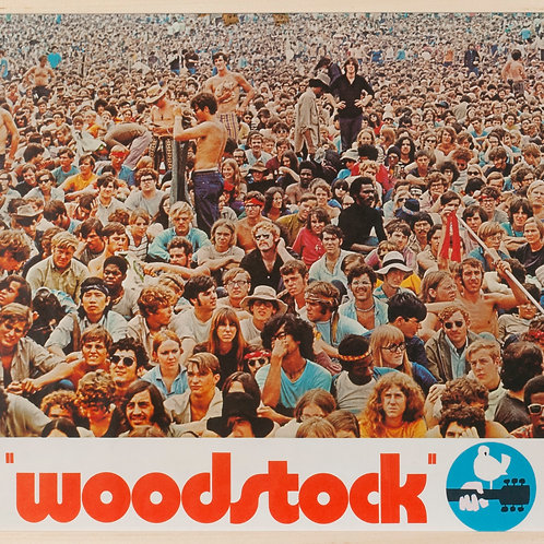 WOODSTOCK - ORIGINAL UK QUAD FILM POSTER
