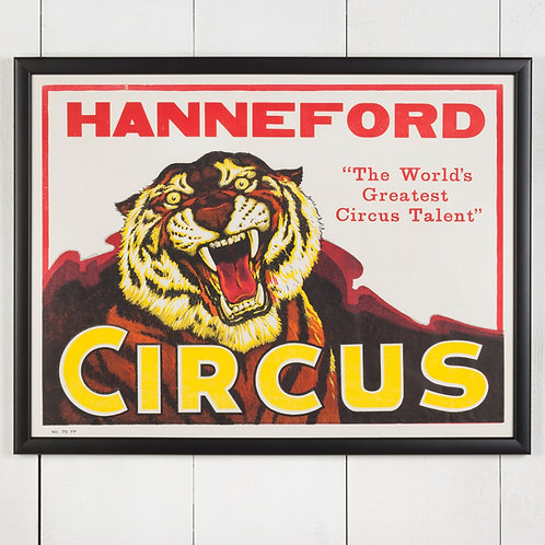 FRAMED VINTAGE AMERICAN CIRCUS POSTER