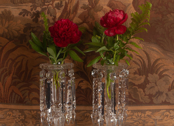 A Pair of Victorian Cut Crystal Lustres