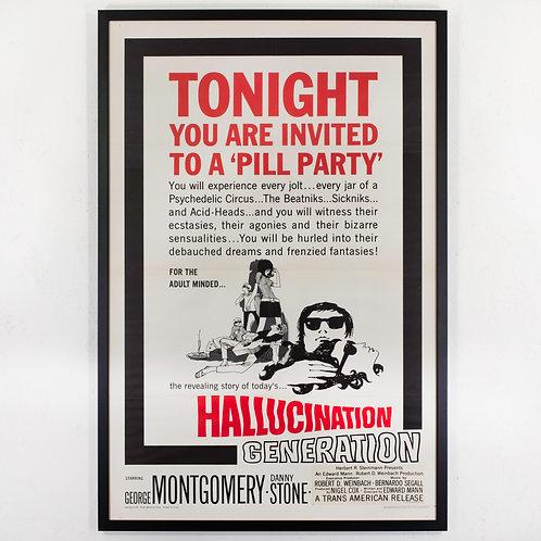 HALLUCINATION GENERATION - ORIGINAL 1967 FILM POSTER