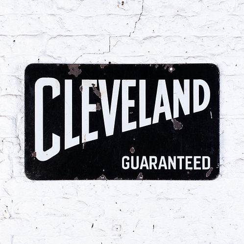 CLEVELAND GUARANTEED (PETROL) DOUBLE-SIDED ENAMEL SIGN