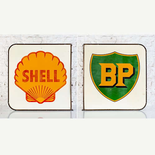 ORIGINAL DOUBLE-SIDED SHELL / BP ALLOY FORECOURT SIGN
