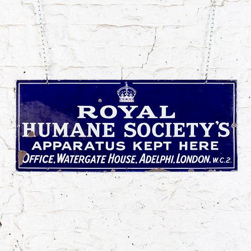ROYAL HUMANE SOCIETY'S APPARATUS - ENAMEL SIGN
