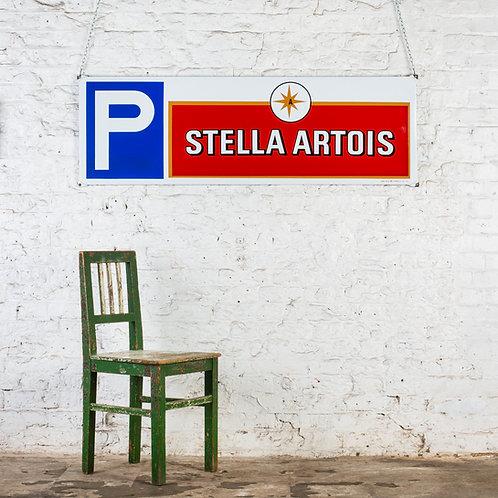 LARGE, STELLA ARTOIS PARKING ENAMEL SIGN