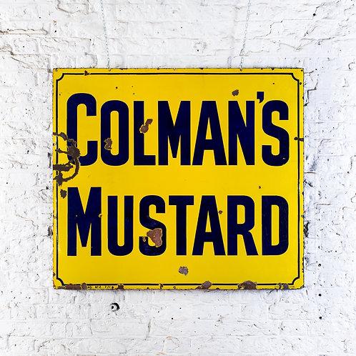 LARGE, VIBRANT COLMAN'S MUSTARD ENAMEL SIGN