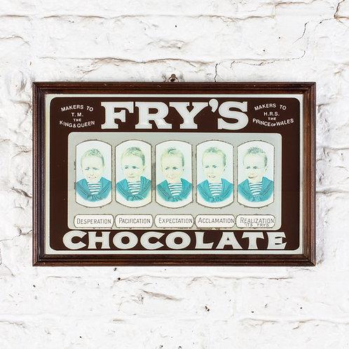 VINTAGE FRY'S CHOCOLATE ADVERTISING MIRROR