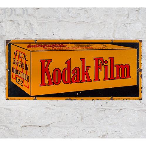EARLY KODAK AUTOGRAPHIC FILM ENAMEL SIGN