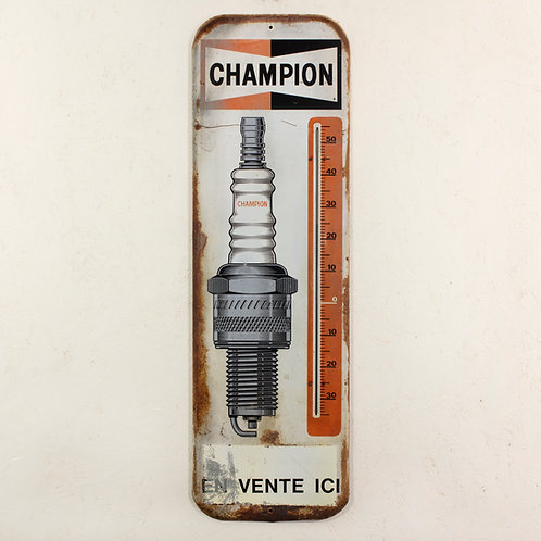 CHAMPION SPARK PLUGS ADVERTISING THERMOMETER