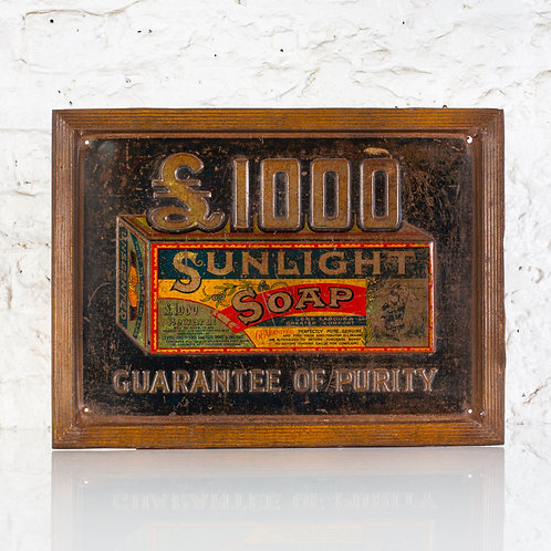 EARLY SUNLIGHT SOAP EMBOSSED TIN SIGN