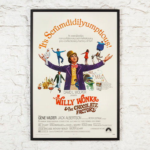 WILLY WONKA & THE CHOCOLATE FACTORY - ORIGINAL FILM POSTER