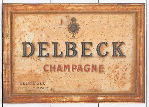 CHARMING DELBECK CHAMPAGNE TIN SIGN
