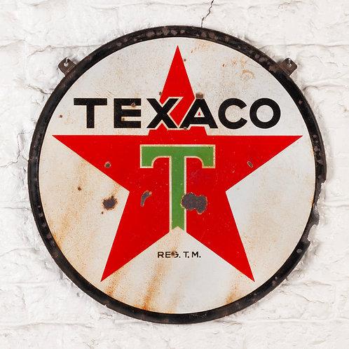 DOUBLE-SIDED TEXACO PETROL ENAMEL SIGN