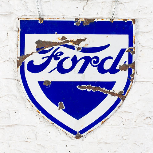 EARLY, DOUBLE-SIDED FORD ENAMEL SIGN