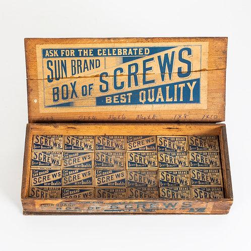 WONDERFULLY GRAPHIC, VINTAGE BOX OF SCREWS