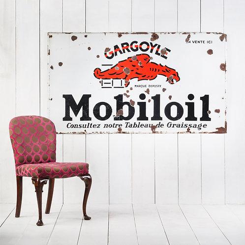 FANTASTIC, LARGE & EARLY MOBILOIL ENAMEL SIGN