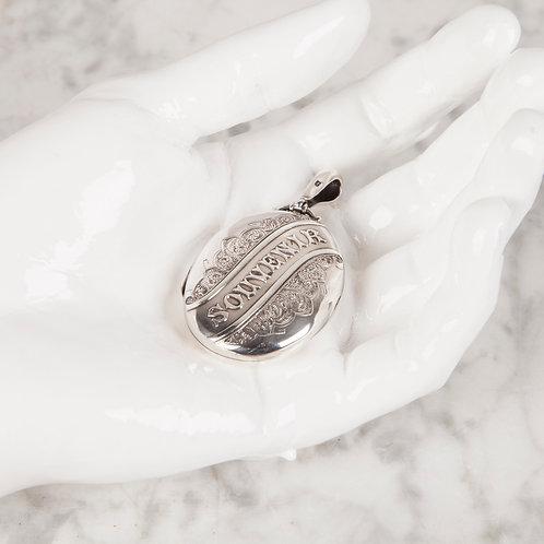 VICTORIAN SILVER SOUVENIR (MEMORY) LOCKET
