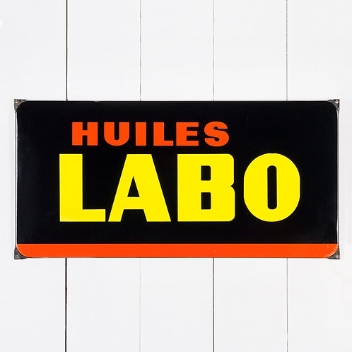 HUILES LABO - FRENCH AUTOMOBILIA ENAMEL SIGN