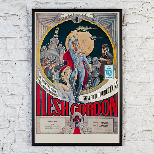 FLESH (NOT FLASH) GORDON - ORIGINAL FILM POSTER