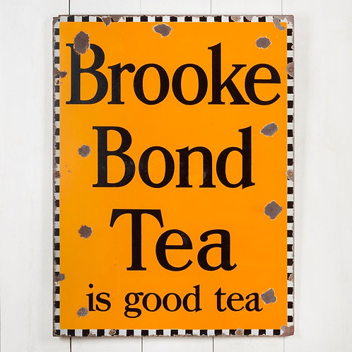 LOVELY, MID-SIZED BROOKE BOND TEA ENAMEL SIGN