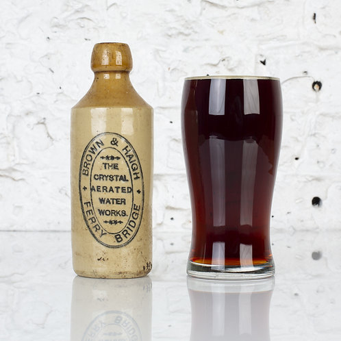 BROWN & HAIGH, FERRY BRIDGE - VICTORIAN GINGER BEER BOTTLE