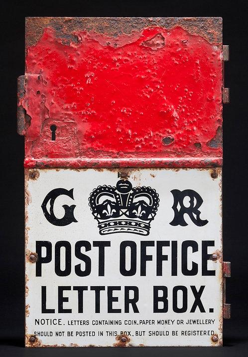 GR LETTER BOX DOOR INC. ENAMEL PLAQUE