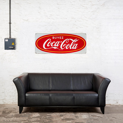 MID-SIZED, ICONIC, COCA-COLA ENAMEL SIGN
