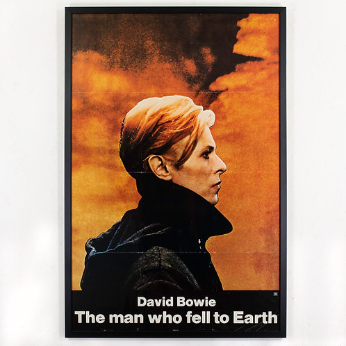 DAVID BOWIE - THE MAN WHO FELL TO EARTH. ORIGINAL POSTER