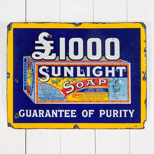 FANTASTIC, EARLY SUNLIGHT SOAP ENAMEL SIGN