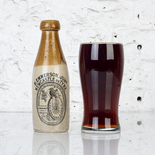 THE DOCTOR'S STOUT - VICTORIAN STONEWARE BOTTLE