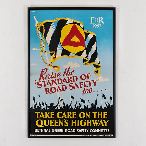 QUEEN'S CORONATION INSPIRED ROAD SAFETY POSTER