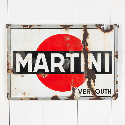 MARTINI ENAMEL SIGN WITH LOTS OF CHARACTER